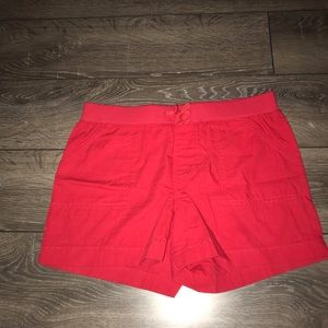Girl's red shorts